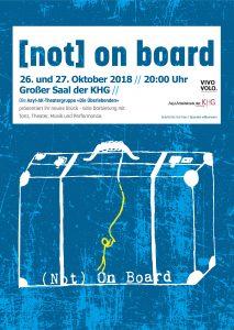 Plakat (not) on board, Die Überlebenden, 26. und 27.10., 20 Uhr in der KHG